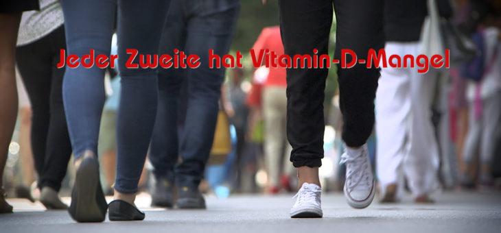 Jeder Zweite hat Vitamin-D-Mangel