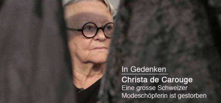 Christa de Carouge – Die Dame in Schwarz