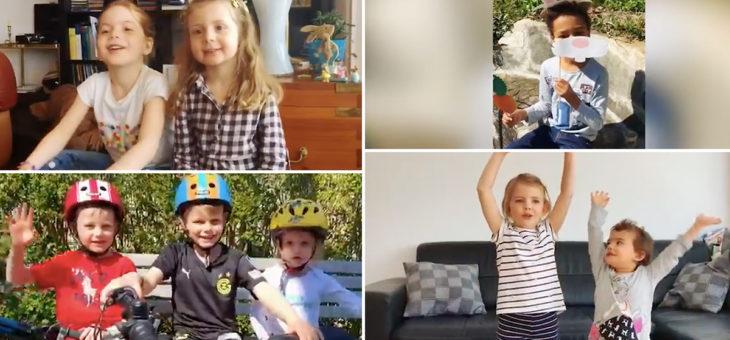 Ostern zu Hause: Kinder senden Grüsse